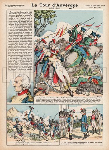 La Tour d'Auvergne, 1743-1800. Illustration for Gloires Nationales Qui Vive? France! (Epinal Pellerin, c 1900).