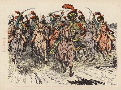 La Garde. Illustration for Guerriers et Soldats with text by Montfrilleux and illustrations by Caran D'Ache (Felix Juven, c 1896).