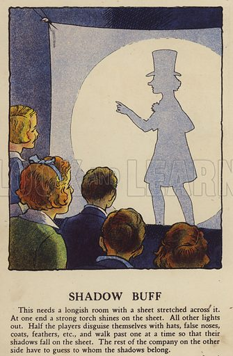 Shadow Buff. Illustration for Games for Girls and Boys (R A Publishing Company, London, nd, c 1940).