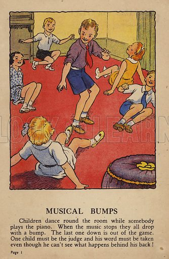 Musical Bumps. Illustration for Games for Girls and Boys (R A Publishing Company, London, nd, c 1940).