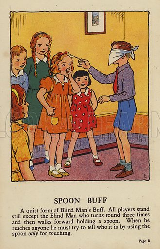 Spoon Buff. Illustration for Games for Girls and Boys (R A Publishing Company, London, nd, c 1940).