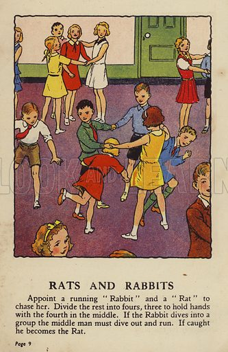 Rats and Rabbits. Illustration for Games for Girls and Boys (R A Publishing Company, London, nd, c 1940).