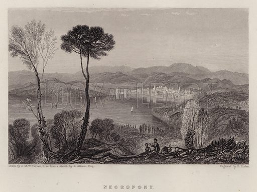 Negropont. Illustration for A Gazetteer of the World or Dictionary of Geographical Knowledge (A Fullarton, 1858).