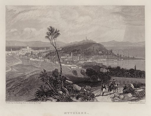 Mytelene. Illustration for A Gazetteer of the World or Dictionary of Geographical Knowledge (A Fullarton, 1858).
