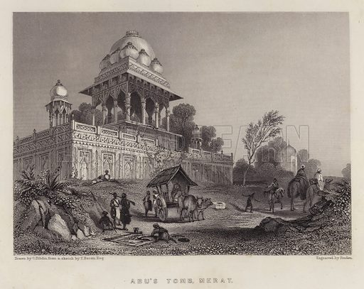 Abu's Tomb, Merat. Illustration for A Gazetteer of the World or Dictionary of Geographical Knowledge (A Fullarton, 1858).