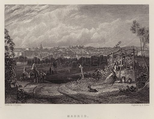 Madrid. Illustration for A Gazetteer of the World or Dictionary of Geographical Knowledge (A Fullarton, 1858).