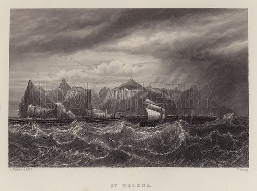 St Helena. Illustration for A Gazetteer of the World or Dictionary of Geographical Knowledge (A Fullarton, 1858).