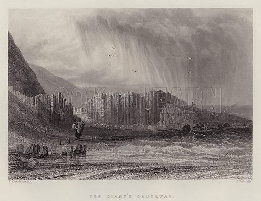 The Giant's Causeway. Illustration for A Gazetteer of the World or Dictionary of Geographical Knowledge (A Fullarton, 1858).