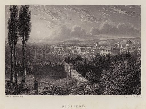 Florence. Illustration for A Gazetteer of the World or Dictionary of Geographical Knowledge (A Fullarton, 1858).