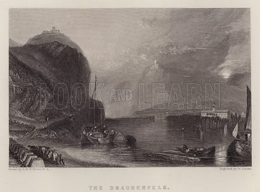 The Drachenfels. Illustration for A Gazetteer of the World or Dictionary of Geographical Knowledge (A Fullarton, 1858).