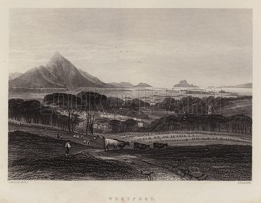 Westport. Illustration for A Gazetteer of the World or Dictionary of Geographical Knowledge (A Fullarton, 1858).