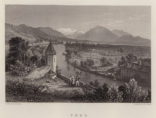 Thun. Illustration for A Gazetteer of the World or Dictionary of Geographical Knowledge (A Fullarton, 1858).