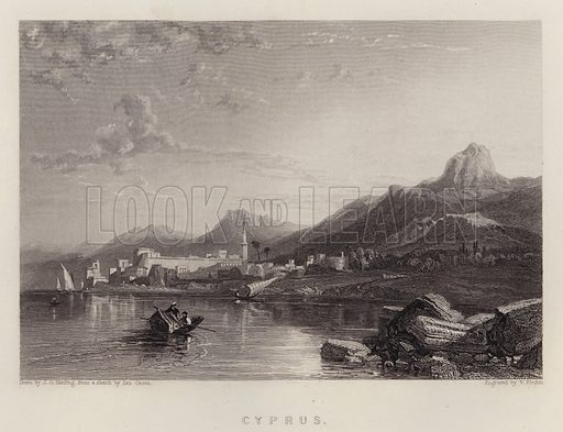 Cyprus. Illustration for A Gazetteer of the World or Dictionary of Geographical Knowledge (A Fullarton, 1858).