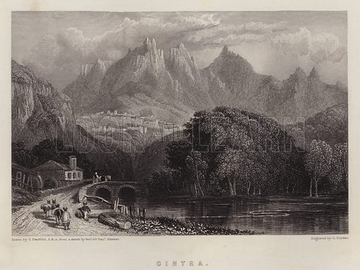 Cintra. Illustration for A Gazetteer of the World or Dictionary of Geographical Knowledge (A Fullarton, 1858).