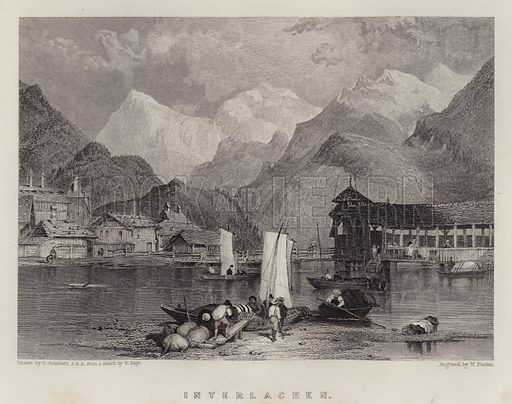 Interlachen. Illustration for A Gazetteer of the World or Dictionary of Geographical Knowledge (A Fullarton, 1858).