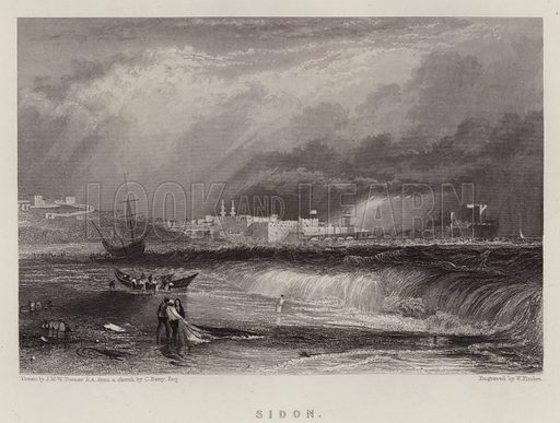 Sidon. Illustration for A Gazetteer of the World or Dictionary of Geographical Knowledge (A Fullarton, 1858).