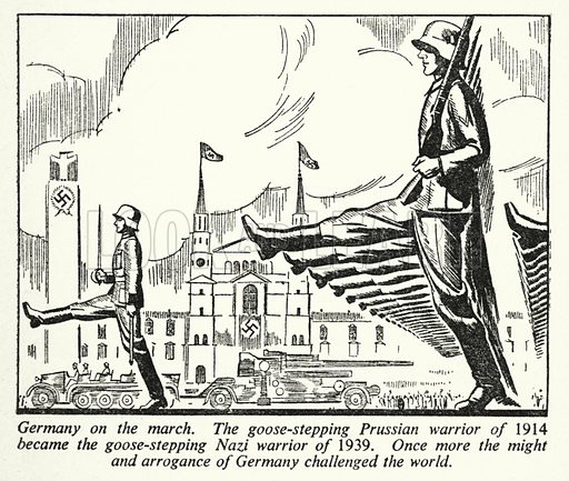 Germany on the March. Illustration for General Knowledge Course (Odhams, c 1945).