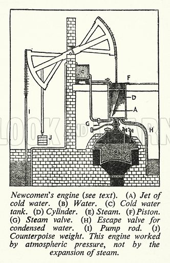 Newcomen's engine. Illustration for General Knowledge Course (Odhams, c 1945).