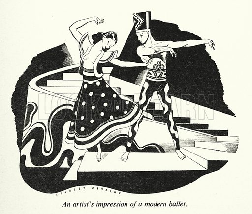 An artist's impression of a modern ballet. Illustration for General Knowledge Course (Odhams, c 1945).