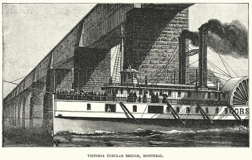 Victoria Tubular Bridge, Montreal. Illustration for Great Works by Great Men, the Story of Famous Engineers and their Triumphs by F M Holmes (S W Patridge, c 1914).