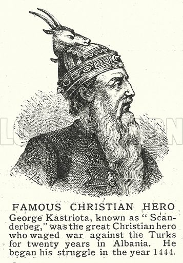 Famous Christian Hero. Illustration for an edition of the Harmsworth History of the World, c 1910.