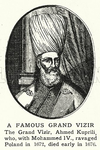 A Famous Grand Vizir. Illustration for an edition of the Harmsworth History of the World, c 1910.