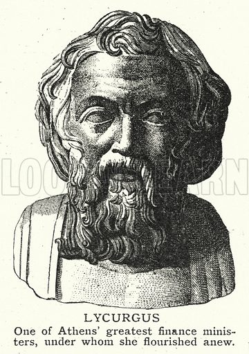 Lycurgus. Illustration for an edition of the Harmsworth History of the World, c 1910.