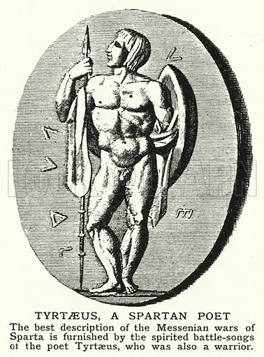 Tyrtaeus, a Spartan poet. Illustration for an edition of the Harmsworth History of the World, c 1910.