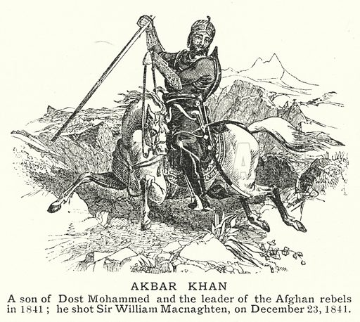 Akbar Khan. Illustration for an edition of the Harmsworth History of the World, c 1910.