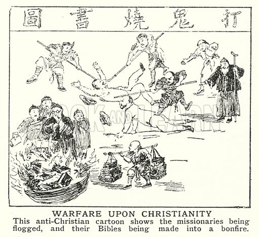 Warfare upon Christianity. Illustration for an edition of the Harmsworth History of the World, c 1910.