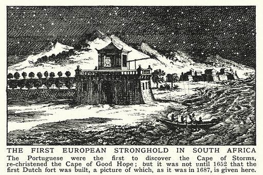 The first European stronghold in South Africa. Illustration for an edition of the Harmsworth History of the World, c 1910.