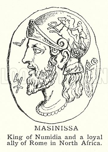 Masinissa. Illustration for an edition of the Harmsworth History of the World, c 1910.