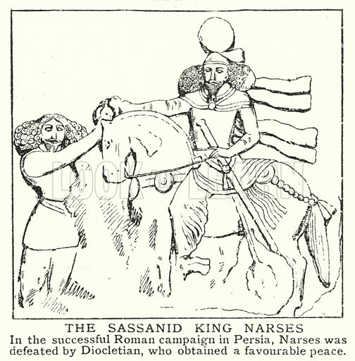 The Sassanid king Narses. Illustration for an edition of the Harmsworth History of the World, c 1910.
