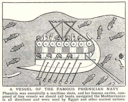 A vessel of the famous Phoenician navy. Illustration for an edition of the Harmsworth History of the World, c 1910.