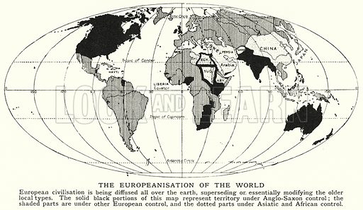 The Europeanisation of the world. Illustration for an edition of the Harmsworth History of the World, c 1910.