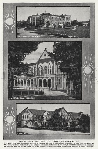 The Imperial University of Tokio, founded in 1872. Illustration for an edition of the Harmsworth History of the World, c 1910.
