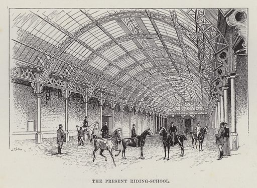 Welbeck Abbey, The Present Riding-School. Illustration for Historic Houses of the United Kingdom (Cassell, 1892).
