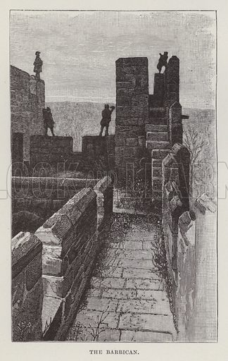 Alnwick Castle, The Barbican. Illustration for Historic Houses of the United Kingdom (Cassell, 1892).