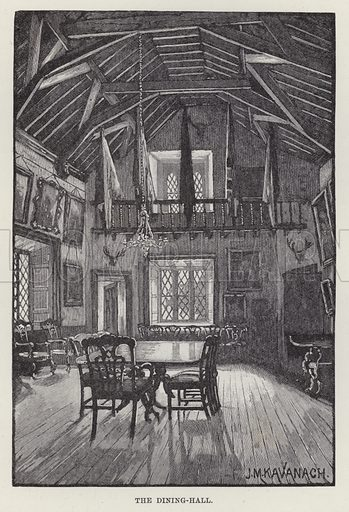Malahide Castle, The Dining-Hall. Illustration for Historic Houses of the United Kingdom (Cassell, 1892).