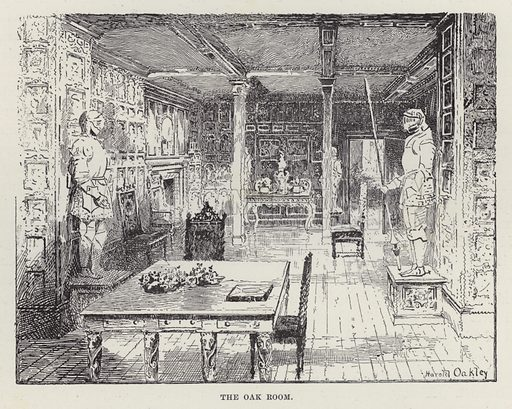 Malahide Castle, The Oak Room. Illustration for Historic Houses of the United Kingdom (Cassell, 1892).