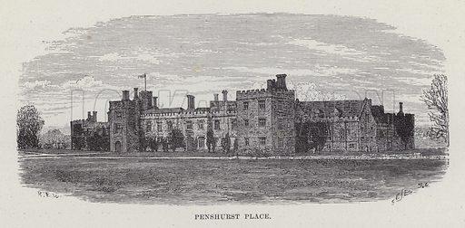 Penshurst Place. Illustration for Historic Houses of the United Kingdom (Cassell, 1892).