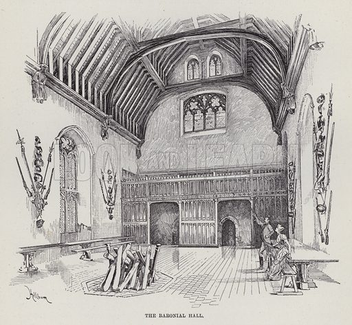 Penshurst Place, The Baronial Hall. Illustration for Historic Houses of the United Kingdom (Cassell, 1892).