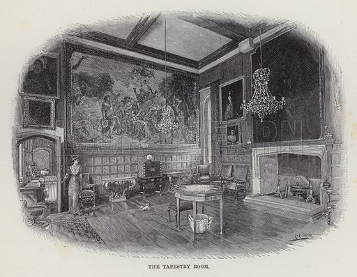 Penshurst Place, The Tapestry Room. Illustration for Historic Houses of the United Kingdom (Cassell, 1892).