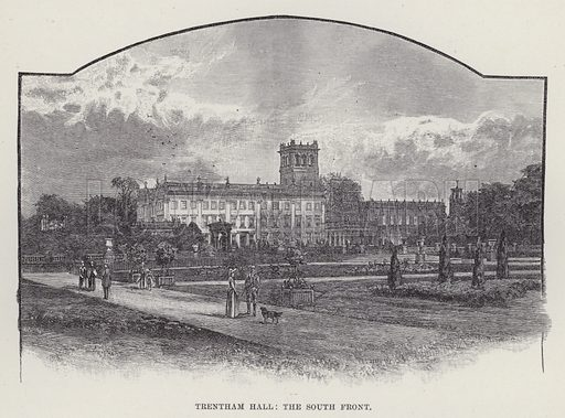 Trentham Hall, The South Front. Illustration for Historic Houses of the United Kingdom (Cassell, 1892).