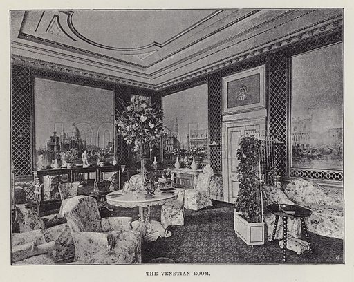 Trentham Hall, The Venetian Room. Illustration for Historic Houses of the United Kingdom (Cassell, 1892).