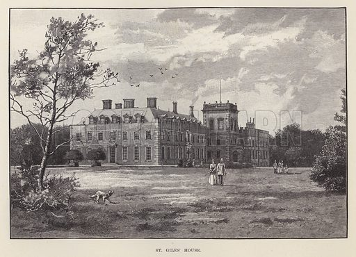 St Giles' House. Illustration for Historic Houses of the United Kingdom (Cassell, 1892).