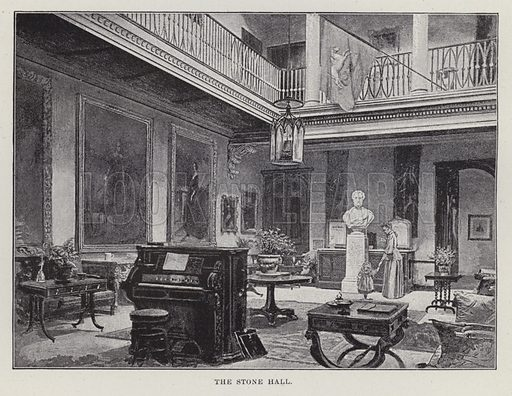 St Giles', The Stone Hall. Illustration for Historic Houses of the United Kingdom (Cassell, 1892).