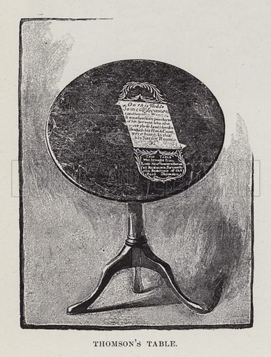 St Giles', Thomson's Table. Illustration for Historic Houses of the United Kingdom (Cassell, 1892).