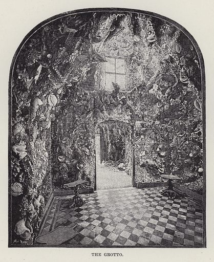St Giles', The Grotto. Illustration for Historic Houses of the United Kingdom (Cassell, 1892).