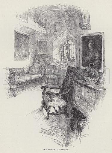 Berkeley Castle, The Drake Furniture. Illustration for Historic Houses of the United Kingdom (Cassell, 1892).